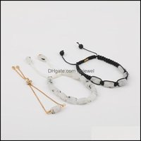Charm Jewelrycharm Bracelets 10Pcs Lot Natural White Moonlight Stone Net Beads Cord Knotted Woven Adjustable Bracelet Women Gold Chains Jewe