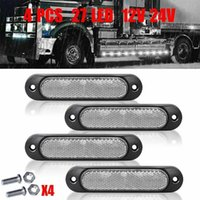 Car Headlights 4 X LED Side Marker Lights 3030 SMD Red Yellow White Blue Green For Trucks Trailers Rear Tail Accessories