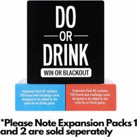 Do or Drink Party Card Game for College Camping 21st Birthday Parties Funny Men and Women