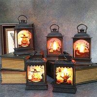 Cadılar Bayramı Şenlikli Parti Malzemeleri Kabak Süs Şatosu Şamdan Lambası LED Elektronik Hayalet El Mum Işık Festivali Dekorasyon Sahne 02