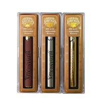 Pirinç Knuckles Pil 650 MAH 900 mAh Vapes Hamur Elektronik Sigaralar Gerilim Preheat Fonksiyonu ile Ayarlanabilir 3 Renkler E Sigara Vape Kalem USB Şarj Kiti