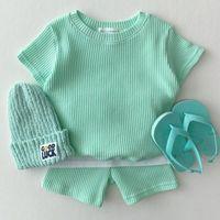 Clothing Sets Koodykids Summer Baby Girls Clothes Set 2PCS Toddlers Boys Short Sleeve Shirts Shorts Kids Korean Style