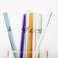 Drinking Straws High Borosilicate Reusable Transparent Glass Heat Temperature Resistant Household Juice Drink