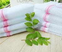 Sac de lavage de la buanderie Taille 30 * 40cm Polyester Fine Mesh Dépenses Sac à linge Lingerie Sac Protège Vêtements OWB9592