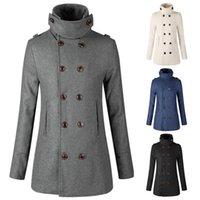 Men's Jackets Woolen Windbreaker Designer Jacket For Men Brand Outwear Long Sleeves Double Breasted Luxury Mid-length Coat