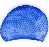Силиконовые ПУ плавание шапки упругие водонепроницаемые колпачки для плавательных колпачков Спортивные длинные волосы уши защиты противоскользящие дайвинг ванна для взрослых