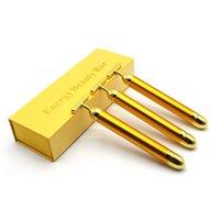 24K Gold Pulse Firming Massager Energy Beauty Bar Facial Roller Massagers Derma Skincare Wrinkle Treatment retail box