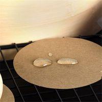 6cm 200 pcs / set Air Fryer Fryer Perfurado Esteira Não-Stick Failing Papel De Cozimento Cozinhar Branco Potenciômetro Branco Papel Acessórios DHF7037
