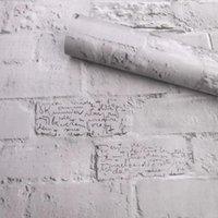 Wallpapers 60cm*1m 3d Brick Wallpaper For Bedroom Living Room Wedding Decoration Contact Furniture Cupboard Renovation