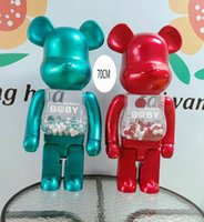 HOT 1000% 70CM Bearbrick Evade glue Red and Green bear figur...