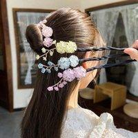 Flor forma fada preguiçoso cabeça bola ajuste dispositivo de cabelo simples bud artifact feminino bun fabricante