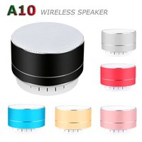 Taşınabilir Bluetooth Hoparlör A10 Mini Kablosuz Hoparlör TF USB Subwoofer Hoparlörler MP3 Stereo Ses Müzik Çalar