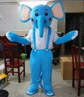 Masquerade professionell blå elefant maskot kostym halloween xmas fancy party dress carnival unisex vuxna tecknad tecken outfits kostym