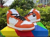 2021 덩크 하이 프로 S B 별 야외 신발 남성 여성 화이트 대학 오렌지 대학 푸른 Zapatos 스포츠 원래 상자 US5-13