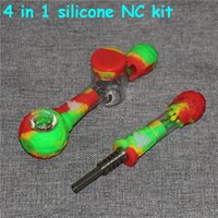 smoking Mini Micro Nectar Collector Kit with 14mm Titanium Tip Oil Rig Concentrate Dab Straw for Glass Bongs