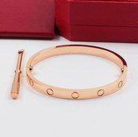 316L Edelstahl Liebe Rose Gold Schraube Armreif Für Männer Frauen mit Schraubendreher und Kastensatz
