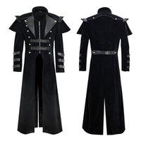 Herren Steampunk Victoria Mantel Tuxedo et Halloween langes gotisches Kostüm