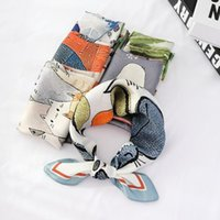 Scarves 55*55 Temperament Small Square Summer Fashion Landscapes And Figure Scarf Literary Hair Band For Women