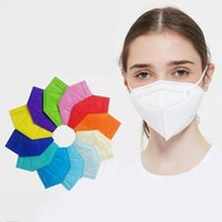 Masks Factory 95% Filter Ffp2 Face Mask Adult Black White Activated Carbon Breathing Respirator 5 Layer Facemask