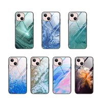 Marble Rock Tempered Glass Cover TPU Cases For iPhone 13 Pro Max 12 Mini 11 XR 8 Plus Samsung S9 S10 S20 S21 Ultra Note 20 A30 A50 A70 A71 5G