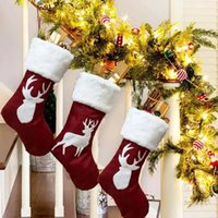 New!!! Classic Christmas Stockings Gift Toy Holder Ornament For Family Holiday Xmas Party accessory Hanging Decoration 2021