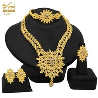 Earrings & Necklace 2021 Nigerian African Jewelry Sets Dubai Gold Plated For Women Hawaiian Wedding Luxury Bridal Accessories