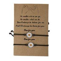 2 قطعة / المجموعة رغبة بطاقة حبل أساور للنساء زوجين الشمع حبل عباد الشمس سحر سوار مع بطاقة عيد الميلاد هدية مجوهرات اكسسوارات 795 Q2