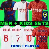 20 21 camiseta de lyon Olympique Lyonnais camiseta de fútbol de lyon 2020 2021 4th 4th Lyon TRAORE MEMPHIS AOUAR MENDES camiseta de fútbol