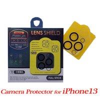 3D Şeffaf Tam Kapak Kamera Lens Koruyucu Temperli Cam Film iphone 13 12 Mini 11 Pro Max Perakende Paketi ile