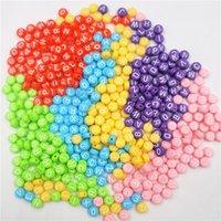 200 / 400pcs 혼합 된 핑크 아크릴 알파벳 / 문자 라운드 비즈 7mm ykl0805 975 T2 만들기위한 둥근 구슬