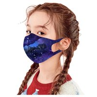 children fashion colorful ice silk cotton dustproof watercolor Knitted masks kids washable waterproof breathable anti-sai fog face 1400 T2