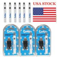 EE.UU. stock cookies precalentamiento de cartuchos de vape batería 350mAh 510 hilo vapes bolígrafos battries de voltaje ajustable 3.4-4.0V con cargador USB 500pcs cada caso
