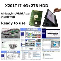 High performance x201t i7 4g laptop with Alldata car repair Soft-ware All data 10.53 mit vivid workshop atsg in 2TB HDD install well ready to use