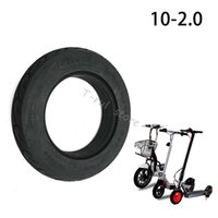 Motorcycle Wheels & Tires 10x2.0 Solid Tire 10 Inch Tubeless Tyre For Electric Scooter Wheel Explosion-Proof Accessories
