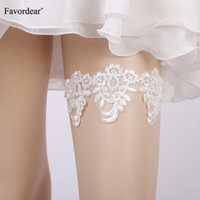 Bridal Gloves Favordear Green White Lace Floral Wedding Garter With Pearls 1 PC Fashion Stocking For Women Accesorios