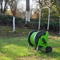 Mobile Water Pipe Cart Hand-push Type Storage Rack With Wheels Garden Spout Watering Supplies Equipments