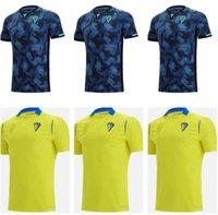 رجل Kids Kit 21 22 Cádiz CF كرة القدم الفانيلة كاديز 2021 2022 الصفحة الرئيسية Lozano Alex Mágico Camiseta Ascenso A.Negredo كرة القدم قميص