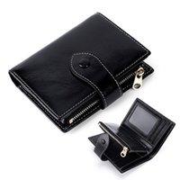 Wallets Genuine Leather Wallet Female Coin Purse Short Walet For Women Men Zipper Money Bag Ladies Card Holder