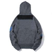 Fall Winter Men Sweater Designer Knit Long Sleeve Letter Print Fashion Unisex Hoodie High Quality Cardigan Coat Sweatshirt Top Knitwear Asian Size