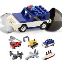 capsule mini transportation building block 6in1 assemble vehicle model sets city car figures bricks kit for kids teachic toys 02