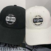 2021 fashion Hat girl spring and summer Korean versatile baseball big headband soft top letter embroidered cap casual sun hat