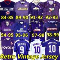 Batistuta 1998 1999 Fiorentina Retro Soccer Jerseys Bigica Rui Costa 98 99 Home Football Shirt 2000 Camisas de Futbol 84 89 90 91 92 93 94 95 96 97 Classic Vintage Jersey