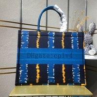 사용자 정의 이름 최고 품질의 클래식 다채로운 도서 totes 가방 디자이너 핸드백 수 놓은 토트 대용량 여행 캔버스 쇼핑백