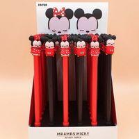 36 قطعة / الوحدة ماوس جل القلم لكتابة لطيف الحيوان الأسود الحبر توقيع القلم اللوازم المدرسية القرطاسية هدية 210330
