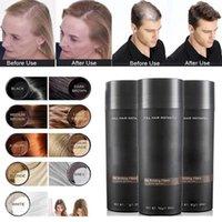 Nieuwe bovenste haarbouwvezels 27.5 g haarverdunnende concealer instant keratin poeder zwart spuitbeschrijving 9 kleuren