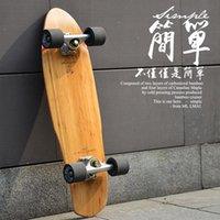 لوحة السمك longboard سكيت الخشب اكتمال مبتدئ سكيت الشارع بالفرشاة كروزر سطح kaykay الرياضة في الهواء الطلق BI50SB التزلج