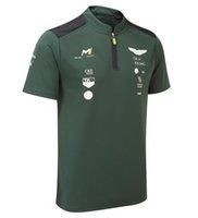 2021 Verano F1 Mundo Fórmula Uno Campeonato Polo Use Casual Secado rápido Camiseta de manga corta