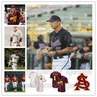 Özel Arizona State Sun Devils Beyzbol Jersey Austin Barnes Ian Kinsler Dustin Pedroia Andre Etier Barry Bonds Reggie Jackson ASU Jersey