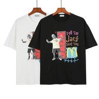 Travis Scott Co Branded Palace Life High Hip Hop Style Street Estilo Redondo Pescoço Pulôver Manga Curta T-shirt