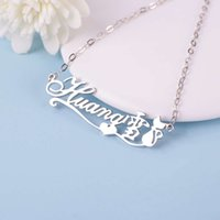 necklace S925 silver letter custom-made male and female couples creative clavicle chain personalized engraved Name Pendant straight